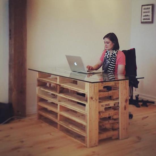 contok meja minimalis dari palet bekas