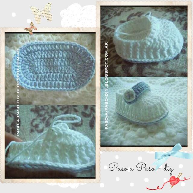 Cómo hacer unos zapatos tejidos al crochet