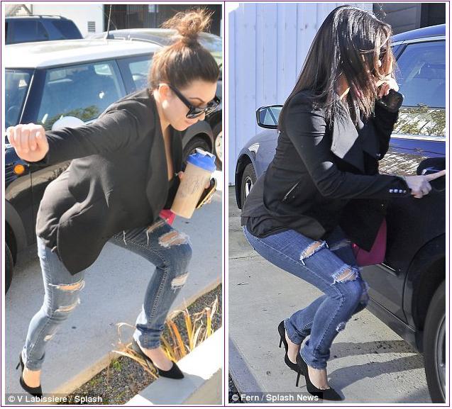 kim kardashian falls down