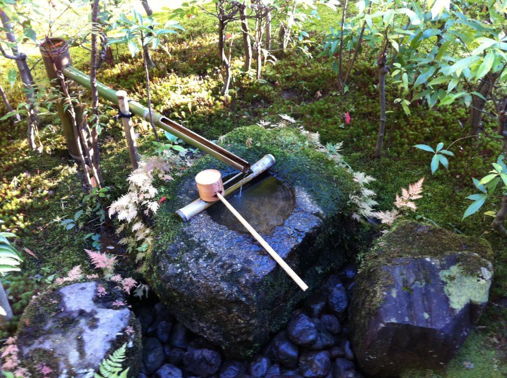 Tsukubai A Stone Basin In Tea House Garden, Japanese Tea Garden Water Basin