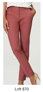 Sydney Fashion Hunter - She Wears The Pants - Loft Marsala Women's Work Pants