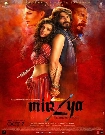 Poster Of Mirzya 2016 Hindi 720p HDRip x264 Watch Online Free Download downloadhub.in
