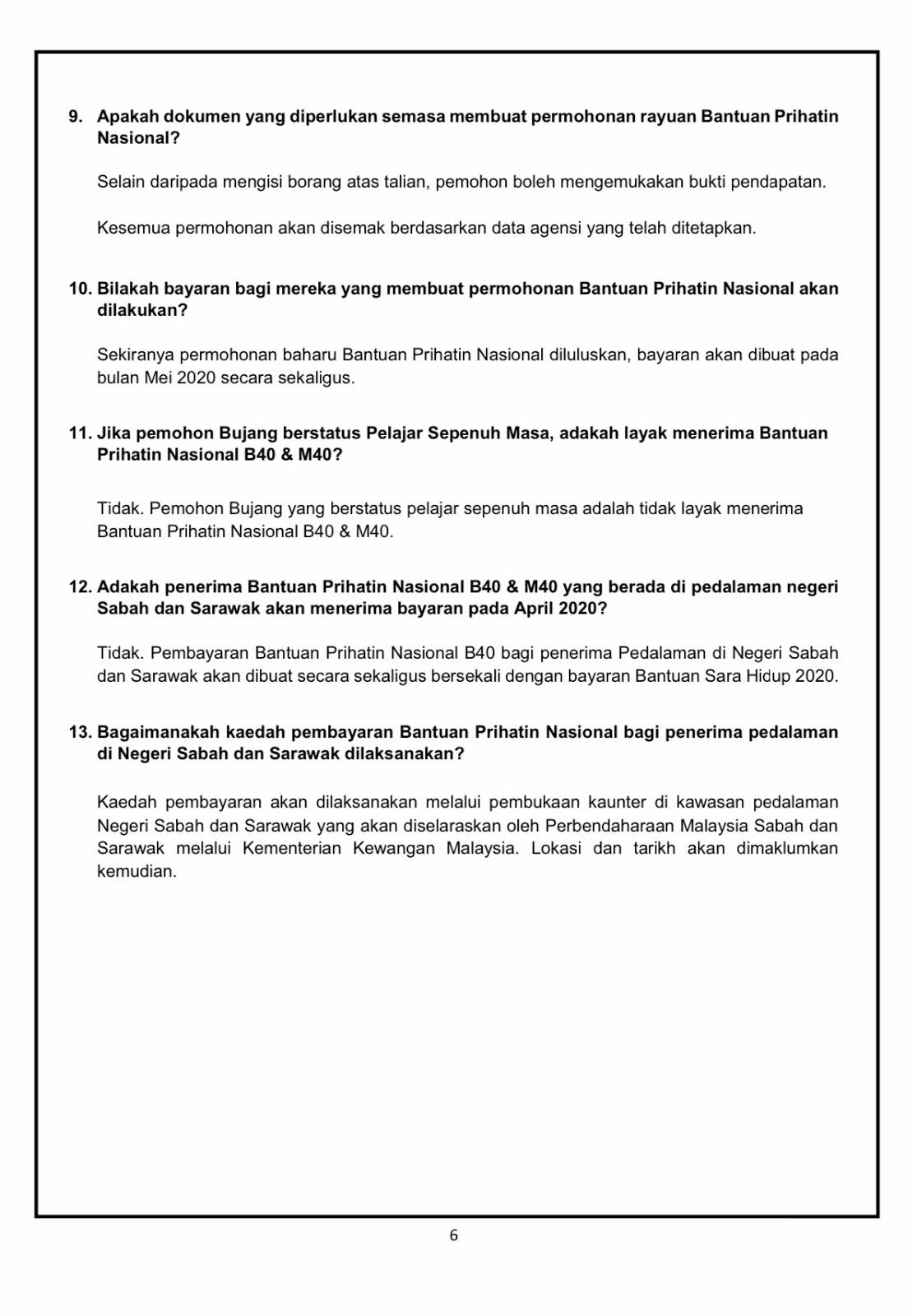 Daftar Online Bantuan Prihatin Nasional (BPN)