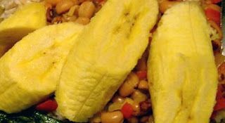 Boiled green plantains.