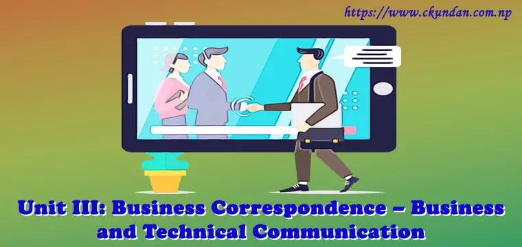 Business Correspondence – Business and Technical Communication