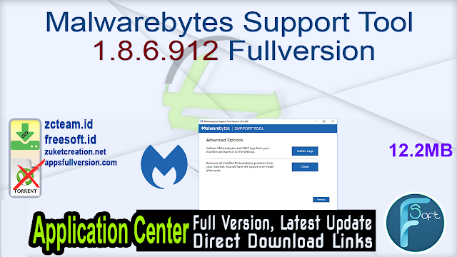 Malwarebytes Support Tool 1.8.6.912 Fullversion