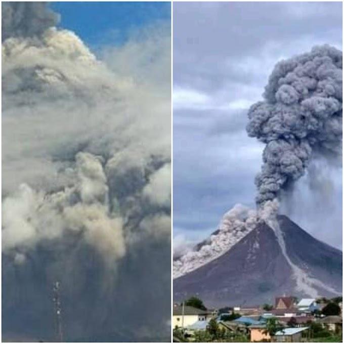 Siang Umpama Malam, Penduduk Kongsi Rakaman Letusan Gunung Berapi Sinabung