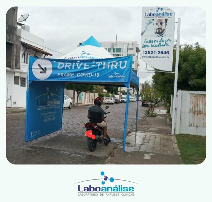 Drive-Trhu é a mais nova opção para realização de teste Covid-19 no Laboanálise de Cruz das Almas