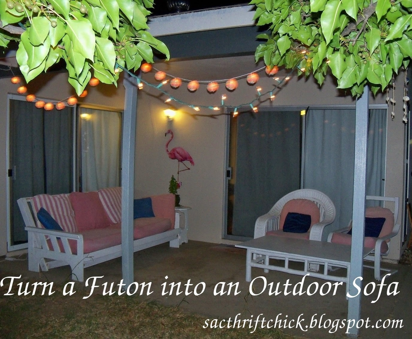 how to turn a futon into a porch couch