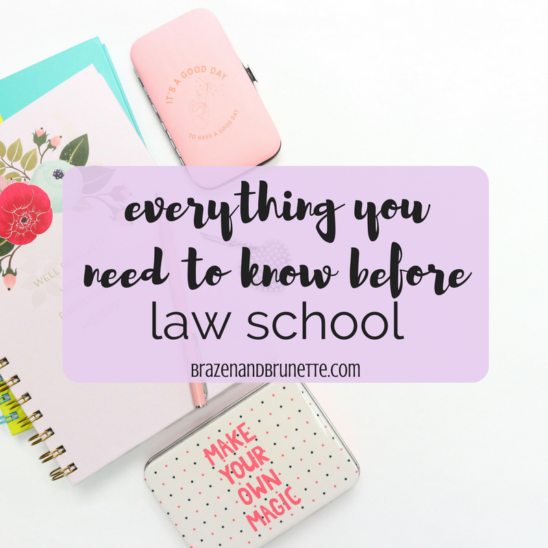 0L ~ Brazen and Brunette ⚖ law school advice and law school