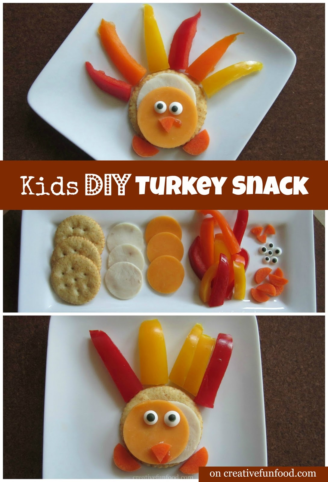 Creative Fun For All Ages With Easy Diy Wall Art Projects: Creative Food: Kid's DIY Turkey Snack