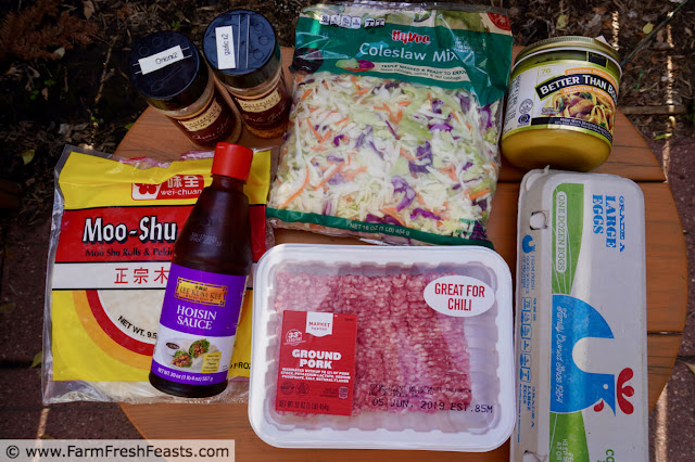 image of ingredients used to make Easy Instant Pot Mu Shu Pork