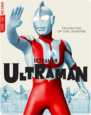 The cover art for Mill Creek's Steelbook Edition of the original ULTRAMAN series Blu-ray!