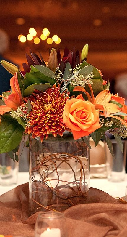 Beautiful Bridal: Fall Wedding Centerpieces - Rustic and Romantic