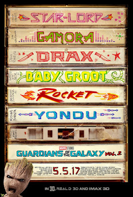Marvel's Guardians of the Galaxy Vol. 2 Mix Tape Teaser Theatrical One Sheet Movie Poster