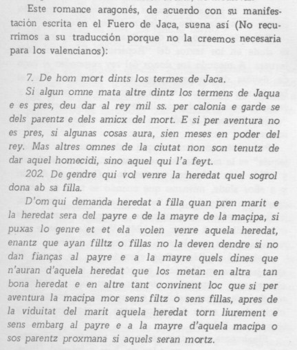 Del Fuero de Jaca y su escritura.