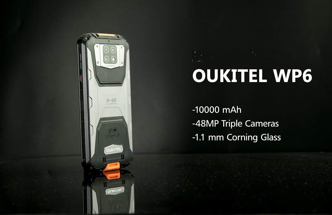 Smartphone Oukitel WP6 Baterai 10000 mAh (gizmochina.com)