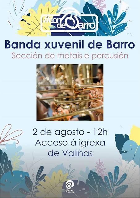 Valiñas: domingo ás 12h Banda Xuvenil de Barro