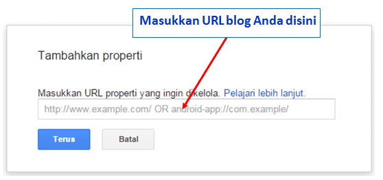 mendaftarkan blog ke google search console