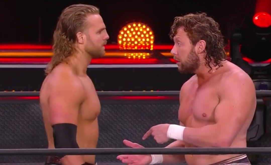 Adam Page and Kenny Omega in AEW Full Gear