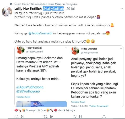 Ke Teddy Gusnaidi, Netizen: Ini fagur BuzzeRp yang Jujur & Terukur