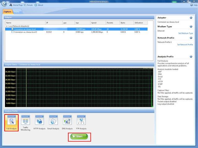 تحميل برنامج Colasoft Capsa 11 الجديد لمعرفة من يستهلك أنترنت أكثر على شبكة الوافاي