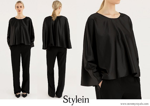 Crown Princess Victoria wore STYLEIN millie top black blouse Stylein