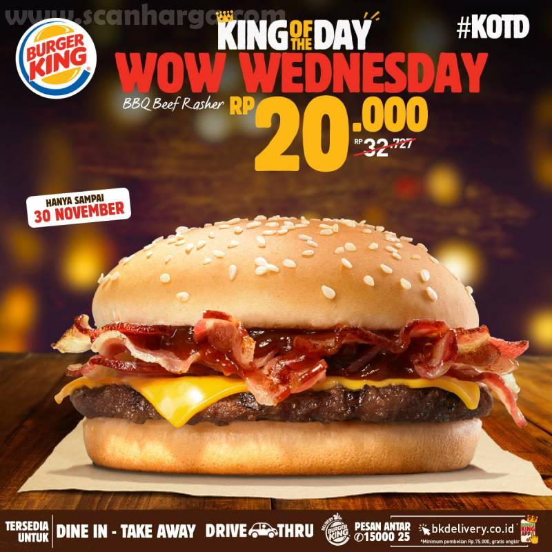 Burger King Promo KOTD: Harga Spesial Hari ini hanya Rp 20.000*4