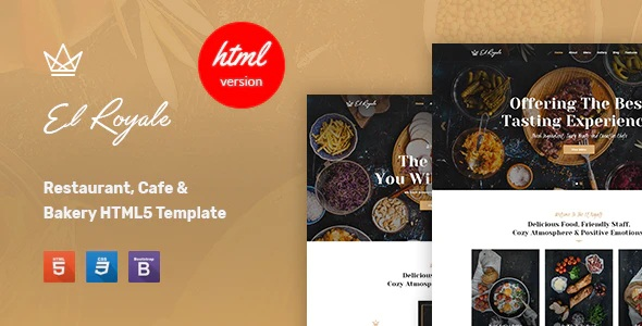 Restaurant & Cafe HTML5 Template
