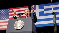 Ο Ομπάμα στην ομιλία του στην Αθήνα