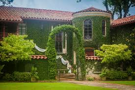 An image of beautiful housed with grass archway