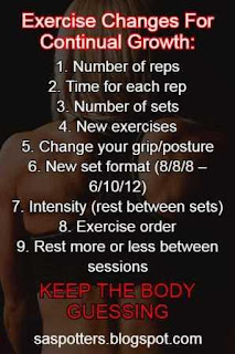 List of ways to keep exercise fresh for physical improvement