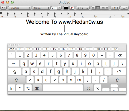 How To Enable And Use The Virtual Keyboard In Mac OS X