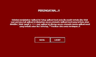 peringatan penggunaan aplikasi surat