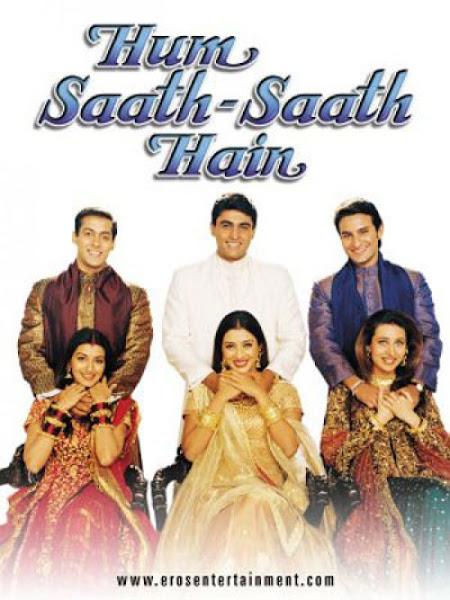 Poster of Hum Saath – Saath Hain 1999 Full Movie 720p Hindi HDRip Download