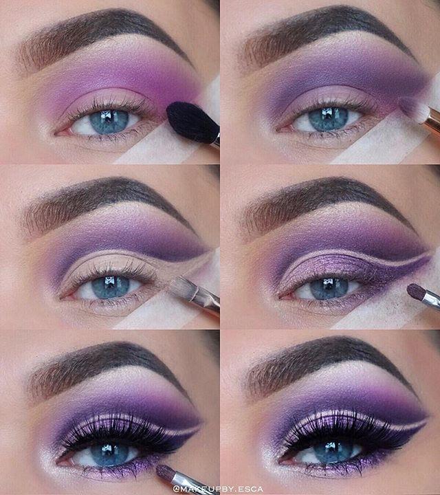 Maquiagem sombra roxo tutorial