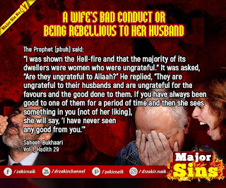 65.2. A WIFE'S BAD CONDUCT OR BEING REBELLIOUS TO HER HUSBAND