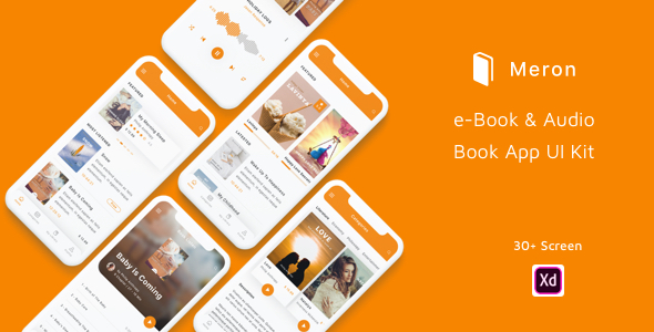 eBook and Audio Book App UI Kit