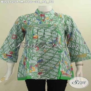 blus batik modern model
