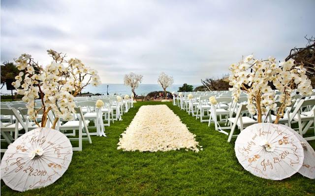 Do It Yourself Outdoor Wedding Ideas Outdoor Weddings Do: Your Outdoor Wedding: Ideas White Wedding Parasols