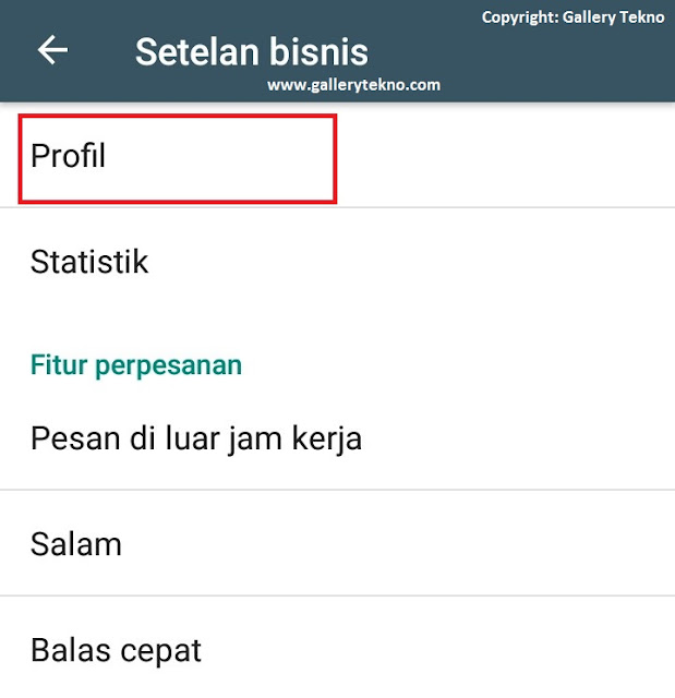 Cara Membuat Profil WhatsApp Business