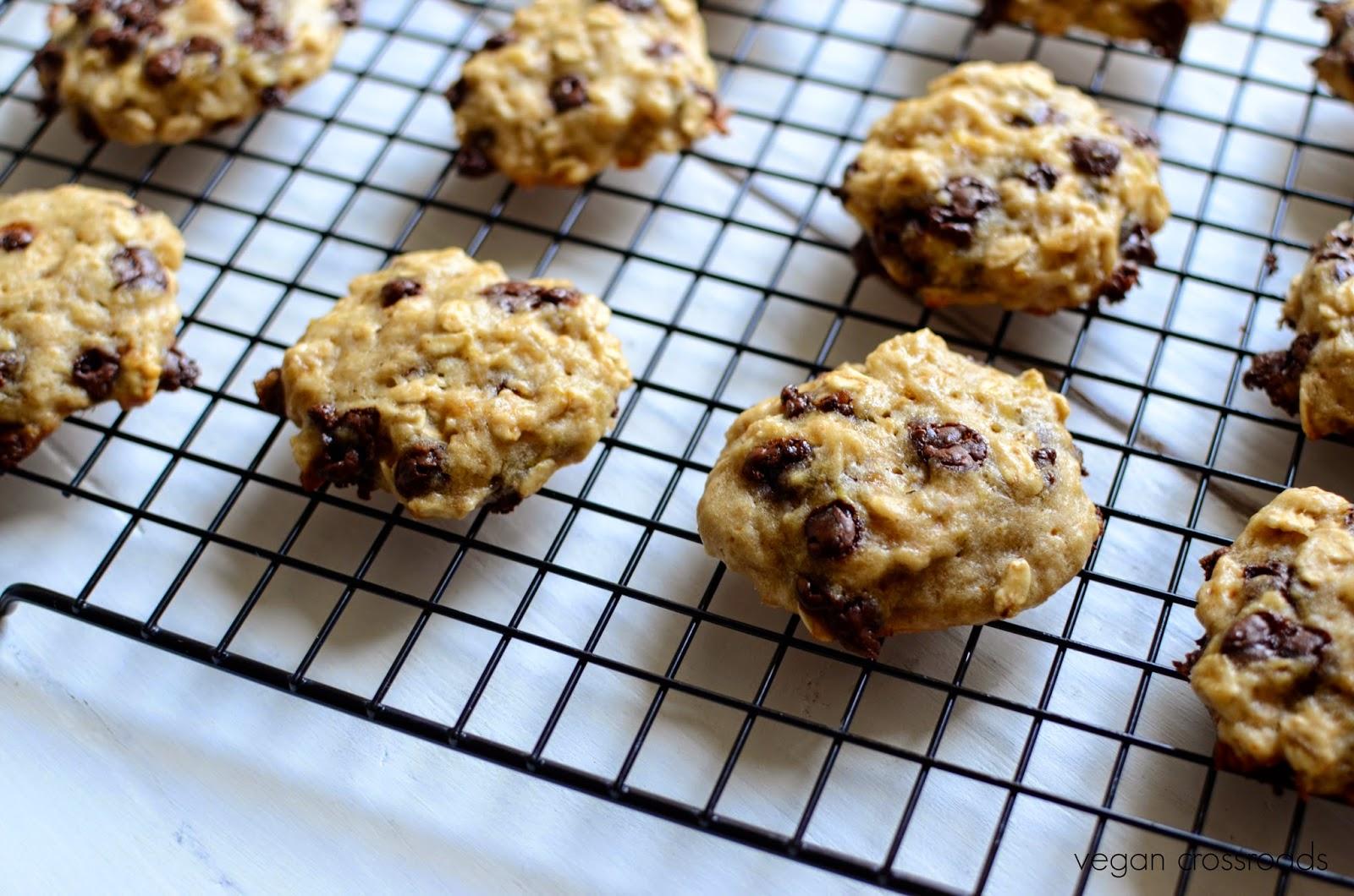 vegane bananen haferflocken kekse mit schokotropfen vegan chocolate chip banana oatmeal. Black Bedroom Furniture Sets. Home Design Ideas