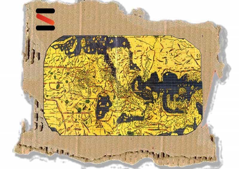 خريطة العالم للعالم الأندلسي الإدريسي