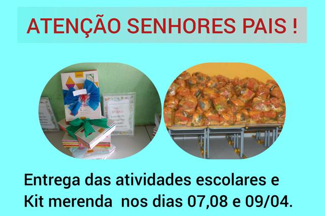 Prefeitura de Ruy Barbosa realiza entrega de atividades escolares e kits merenda