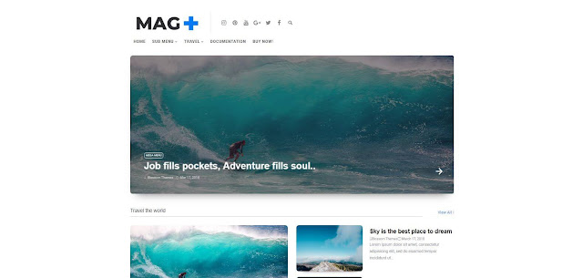 Mag + Blogger Template