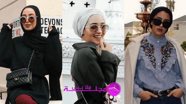 الحجاب مع النظارات - نصائح لارتداء النظارات الشمسية مع الحجاب