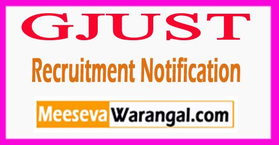 GJUST Guru Jambheshwar University of Science and Technology Recruitment Notification 2017 Last Date 31-07-2017