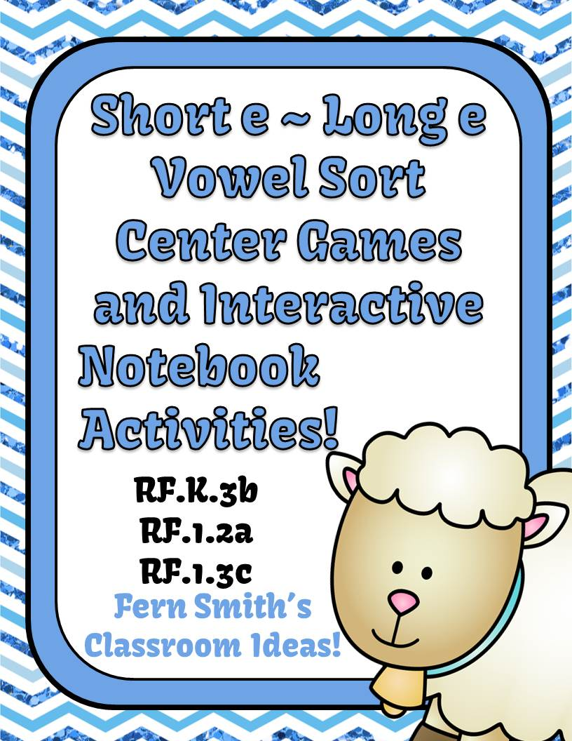 http://www.teacherspayteachers.com/Product/Vowel-Sorting-Short-e-Long-e-Center-Games-and-Interactive-Notebook-Activities-947055