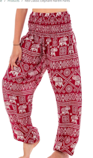 Elephant harem pants women