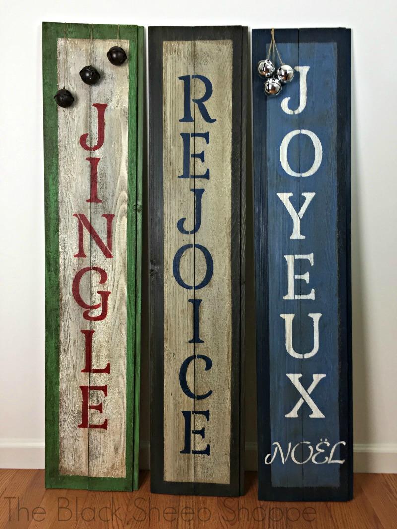 Unique holiday sign designs